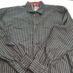 Scully Western LS Pearl Snap Shirt Mens 2XL EUC